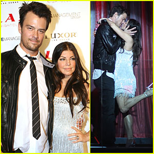 Fergie & Josh Duhamel Share A Kiss at Midnight