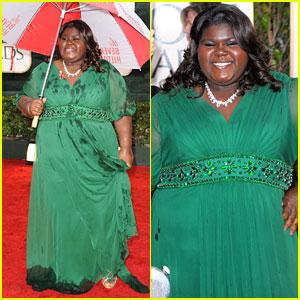 Gabourey Sidibe - Golden Globes 2010 Red Carpet