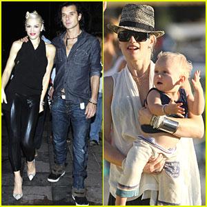 Gwen Stefani & Gavin Rossdale Bring Their Boys to St. Bart's