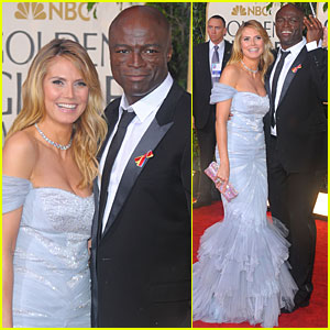 Heidi Klum - Golden Globes 2010 Red Carpet