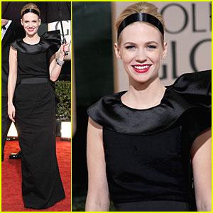 January Jones - Golden Globes 2010 Red Carpet