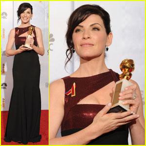 Julianna Margulies Wins Golden Globe -- Best Actress!