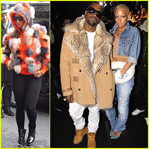 Kanye West & Amber Rose: Fashion Furballs!