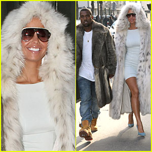 Kanye West & Amber Rose: Fur Coat Couple