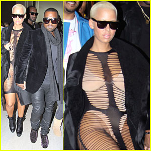 Amber Rose Wears A Barely There Dress in Paris