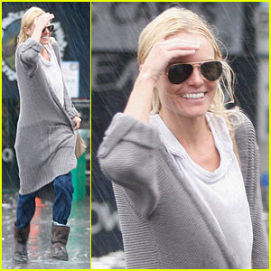 Kate Bosworth: Running in the Rain