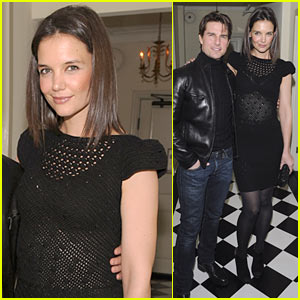 Katie Holmes Hits Golden Globes Party with Tom Cruise