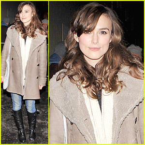 Keira Knightley Performs At West End's Comedy Theatre