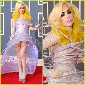 Lady Gaga - Grammys 2010 Red Carpet