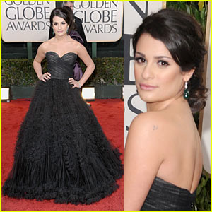 Lea Michele - Golden Globes 2010 Red Carpet