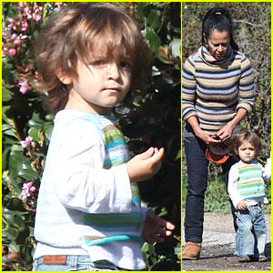 Levi McConaughey & Grandma Alves Step Out in Stripes