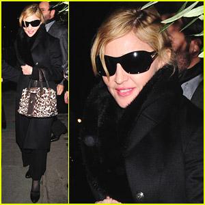 Madonna Dines With A Designer