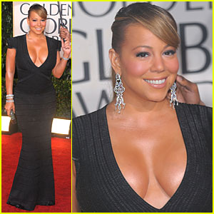 Mariah Carey - Golden Globes 2010 Red Carpet