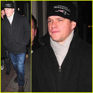 Matt Damon is Lucky in London