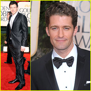 Matthew Morrison & Cory Monteith - Golden Globes 2010 Red Carpet
