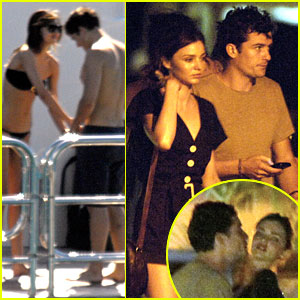 Orlando Bloom & Miranda Kerr: New Year's Kiss!