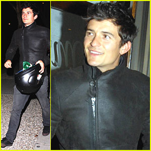 Orlando Bloom: Motorcycle to Madeo!