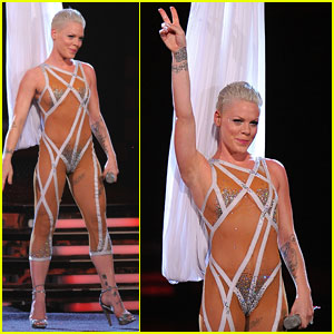 Pink: Nearly Naked Grammys Performance!