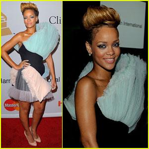 Rihanna Rocks Clive Davis' Grammys Party