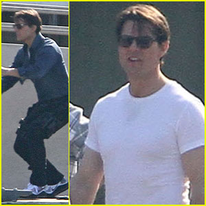 Tom Cruise Works Up A Sweat on the 'Knight and Day' Set