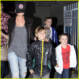 Victoria Beckham & Her Blockbuster Boys
