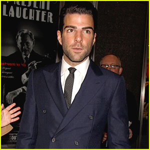 Zachary Quinto Checks Out 'Present Laughter'