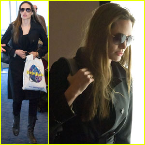 Angelina Jolie: Home After Haiti Trip
