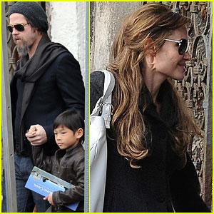Brad Pitt & Angelina: Down the Grand Canal
