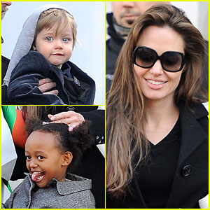 Angelina Jolie, Shiloh & Zahara: Girls' Day Out!