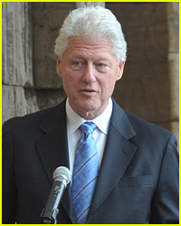 Bill Clinton Is Attended To By Hilary Clinton
