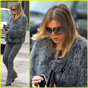 Ellen Pompeo is Furry Fashionable