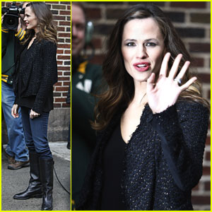 Jennifer Garner Talks 'Valentine's Day' with David Letterman