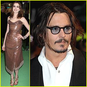 Johnny Depp World Premieres 'Alice In Wonderland' with Anne Hathaway