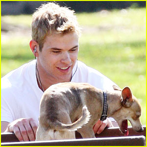 Kellan Lutz Brings His Pups to the Park
