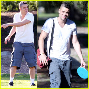 Mark Salling Gets 'Dirty' At Local Park