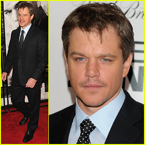 Matt Damon: Moustache Man!