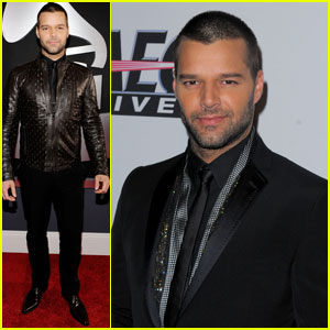 Ricky Martin - Grammys 2010 Red Carpet