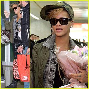 Rihanna Goes Camouflage in Korea