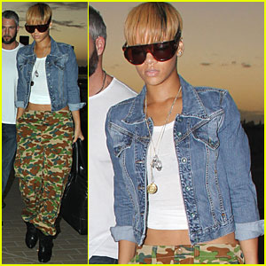 Rihanna is a Camouflage Cutie