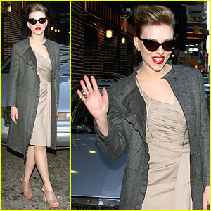 Scarlett Johansson is a Letterman Lady
