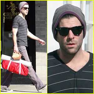 Zachary Quinto Celebrates Another Cinderella Story