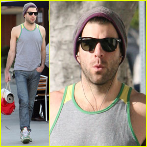 Zachary Quinto Gets His Game Face On