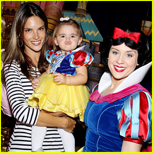 Alessandra Ambrosio Meets Snow White