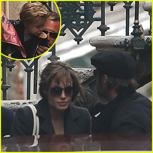 Angelina Jolie & Brad Pitt: Brunch Break!