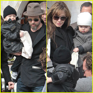 Angelina Jolie & Brad Pitt: Quality Time With The Twins