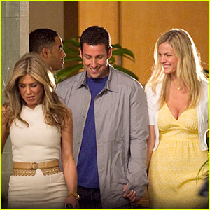Adam Sandler & Brooklyn Decker Hold Hands