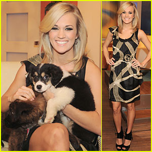 Carrie Underwood: 'Early Show' with Furry Friends!