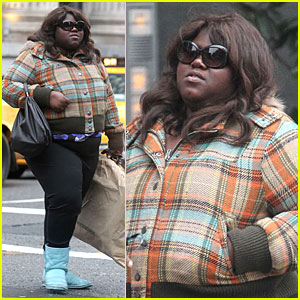 Gabourey Sidibe: Blue Boots Made For Walkin'!