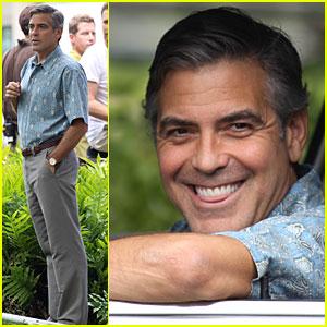 George Clooney Says 'Aloha' to Hawaii