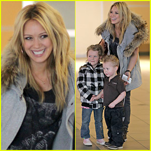 Hilary Duff: Edmonton Arrival with Mike Comrie!
